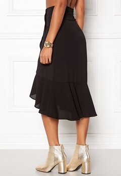 ONLY Ella Flounce Skirt Black Bubbleroom.no