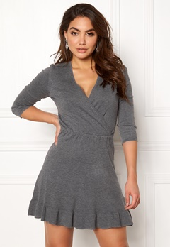 ONLY Elsa 3/4 Dress Medium Grey Melange Bubbleroom.no