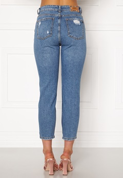 ONLY Emily HW  Crop Jeans Medium Blue Denim Bubbleroom.no