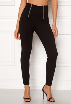 ONLY Evie Adelia Zip Pant Black Bubbleroom.no