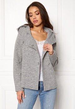 ONLY Fairy Mel Hooded Short Jacket Light Grey Melange Bubbleroom.no