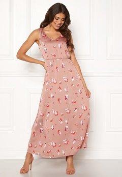ONLY Giza S/L Maxi Dress Adobe Rose Bubbleroom.no