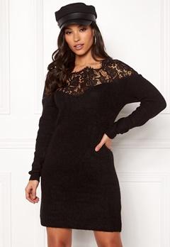 ONLY Hanna Ally L/S Lace Dress Black Bubbleroom.no