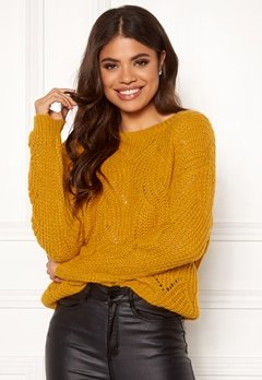 ONLY Havana L/S Pullover Knit Golden Yellow Bubbleroom.no