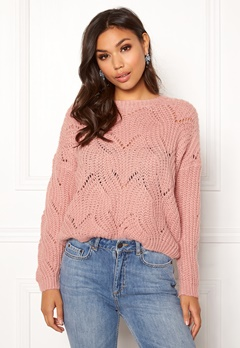ONLY Havana L/S Pullover Knit Misty Rose Bubbleroom.no