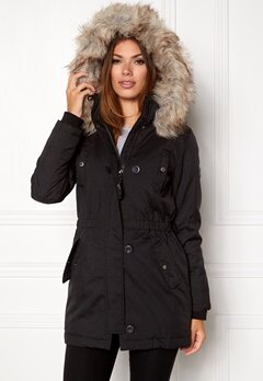 ONLY Onliris parka cc otw Black Bubbleroom.no