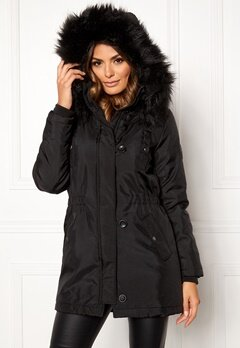 ONLY Iris Parka Black/Black Bubbleroom.no