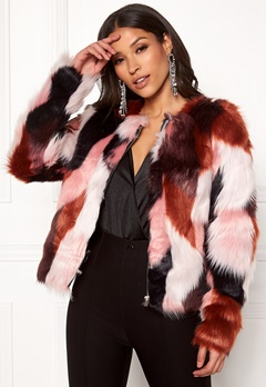 ONLY Jasmine Faux Fur Jacket Picante Bubbleroom.no