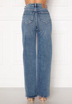 ONLY Juicy HW MB Wide Leg Jeans Medium Blue Denim Bubbleroom.no