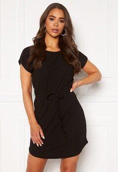 ONLY Julia S/S String Dress Black Bubbleroom.no