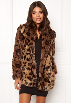 ONLY Juliane Faux Fur Leo Coat Tigers Eye Bubbleroom.no