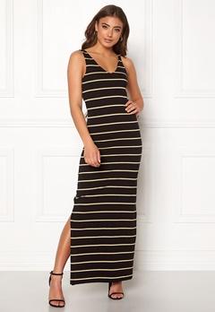 ONLY July S/L Long Dress Black/Stripes Bubbleroom.no