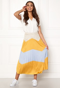 ONLY June Faux Suede Maxi Skirt Golden Yellow Bubbleroom.no