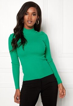 ONLY Kamille Button Pullover Simply Green Bubbleroom.no