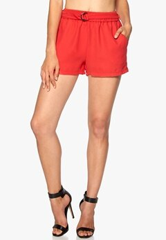 ONLY Karin Shorts Poppy Red Bubbleroom.no