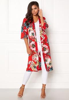 ONLY Kateherine Kimono Flame Scarlet Bubbleroom.no