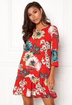 ONLY Katehrine Parki 3/4 Dress Flame Scarlet Bubbleroom.no