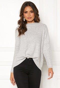 ONLY Kleo L/S Plain Pullover Light Grey Melange Bubbleroom.no
