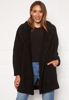 ONLY Laurelia Sherpa Coat Black Bubbleroom.no