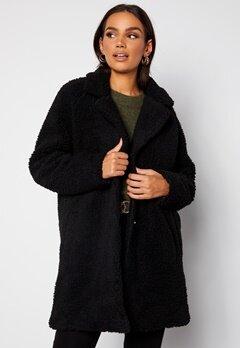 ONLY Laurelia Sherpa Coat Black bubbleroom.no