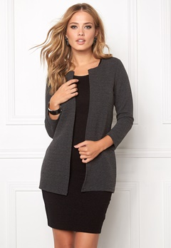 ONLY Leco 7/8 Long Cardigan Dark Grey Melange Bubbleroom.no