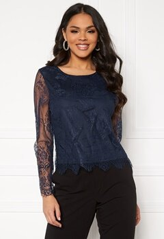 ONLY Lillie Lace Top Night Sky Bubbleroom.no