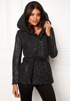 ONLY Lisford Boucle Wool Coat Black Bubbleroom.no