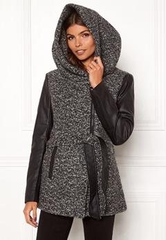 ONLY Lisford Boucle Wool Coat Dark Grey Melange Bubbleroom.no
