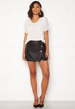 ONLY Liva Faux Leather Shorts Black Bubbleroom.no