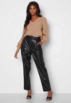 ONLY Lucy Faux Leather Pant Black bubbleroom.no
