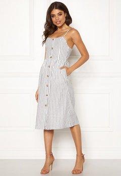 ONLY Luna Strap Stripe Dress Cloud Dancer/Stripes Bubbleroom.no