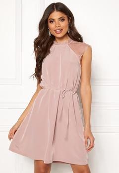 ONLY Lunu S/L Dress Adobe Rose Bubbleroom.no