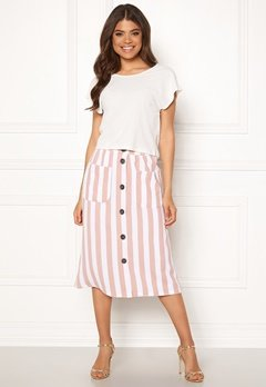 ONLY Madeline Piper Midi Skirt Rose Smoke/Stripes Bubbleroom.no