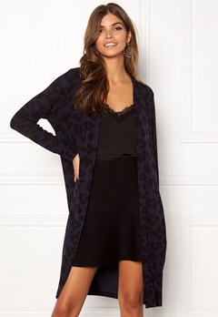 ONLY Mala L/S Leo Cardigan Night Sky/Black Leo Bubbleroom.no