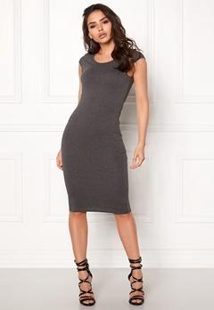 ONLY Mallika Capsleeve Dress Dark Grey Melange Bubbleroom.no