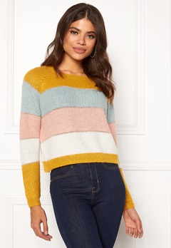 ONLY Malone Stripe Pullover Golden Yellow Bubbleroom.no