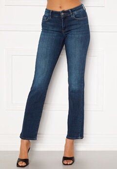ONLY Malou Reg Life Straight Jeans Dark Blue Denim Bubbleroom.no