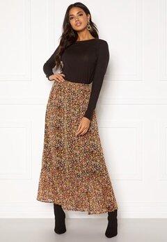 ONLY Mandy Maxi Skirt Black Multiflower Bubbleroom.no