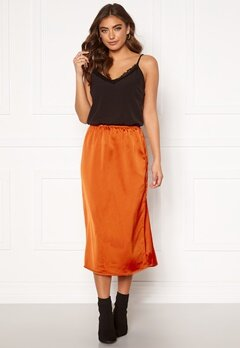 ONLY Mania Midi Skirt Rust Bubbleroom.no