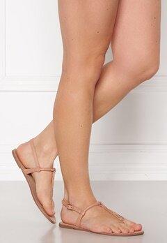 ONLY Margit PU Glitter Split Toe Sandal Nude Bubbleroom.no