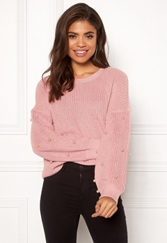 ONLY Mella L/S Pearl Pullover Misty Rose Bubbleroom.no