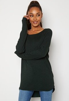 ONLY Mila Lacy L/S Long Pullover Green Gables Bubbleroom.no