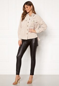 ONLY Miri Faux Leather Cargo Legging Black Bubbleroom.no