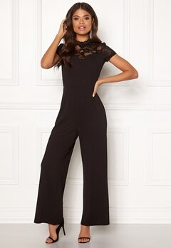ONLY Monna s/s Mix Jumpsuit Black Bubbleroom.no