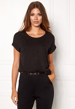 ONLY Moster s/s Top Black Bubbleroom.no