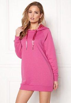 ONLY Mynte L/S Sweat Dress Super Pink Bubbleroom.no