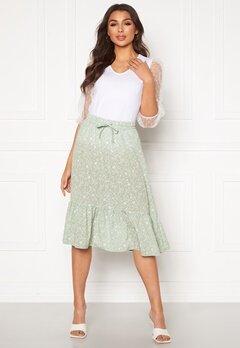 ONLY Nadja-Addiction Long AOP Skirt Frosty Green Bubbleroom.no