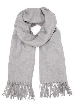 ONLY Nala Weaved Wool Scarf Light Grey Melange Bubbleroom.no
