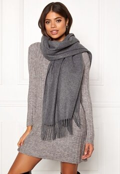ONLY Nala Weaved Wool Scarf Medium Grey Melange Bubbleroom.no