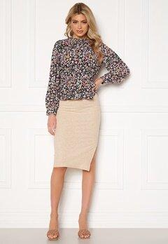 ONLY Nella Slit Skirt Pumice Stone Bubbleroom.no